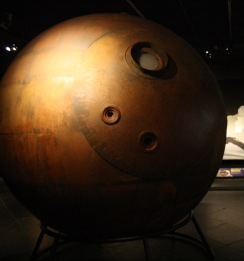 Image of a model of Yuri Gagarin's pod from the Museum of Natural History, NY