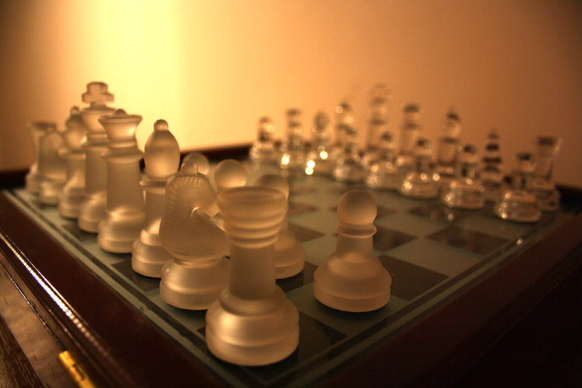 Chessboard before any moves are made