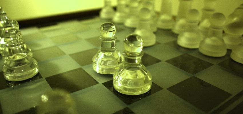 Fool's mate, white bad move (edited photograph)