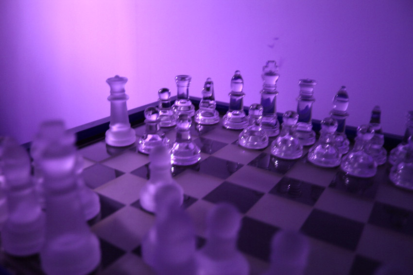 Final move, Fool's mate game (edited photograph)