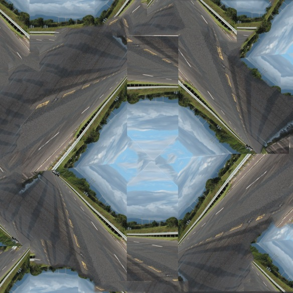 Kaleidoscopic image of paths