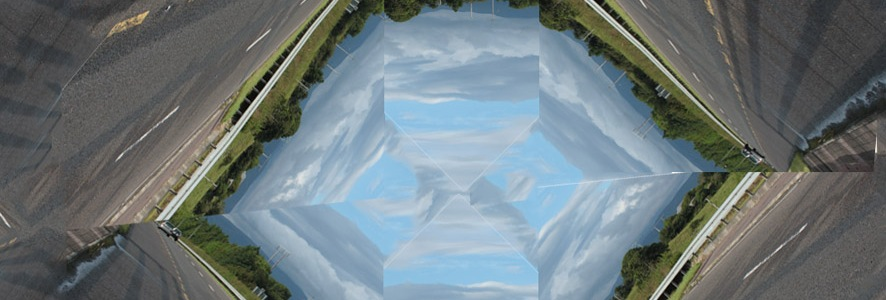 Kaleidoscopic image of paths