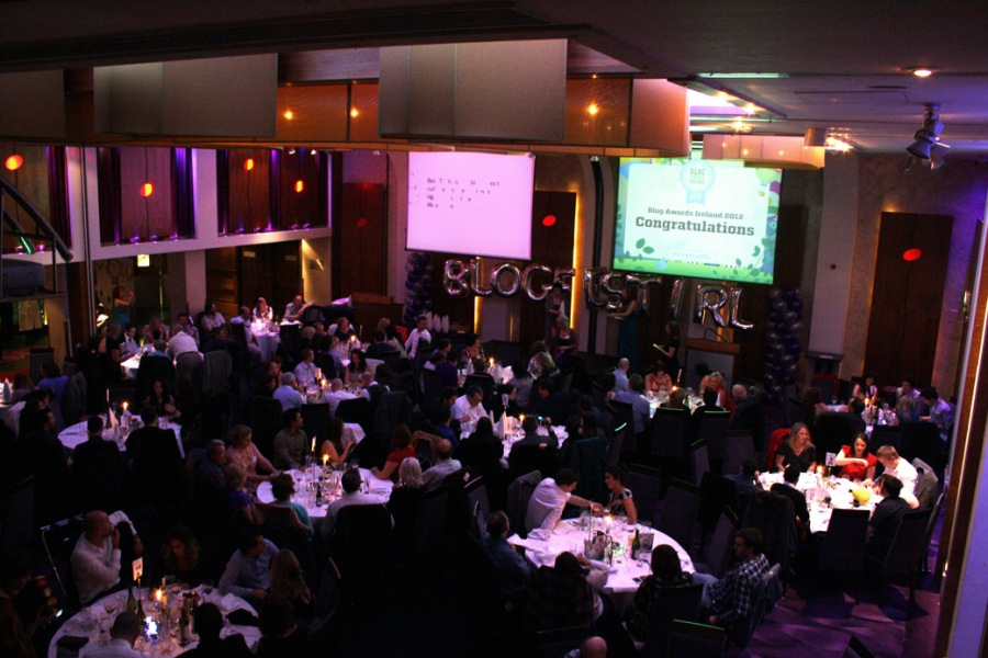 A shot of the awards ceremony for Blog Awards Ireland 2012 at the Osprey Hotel, Naas