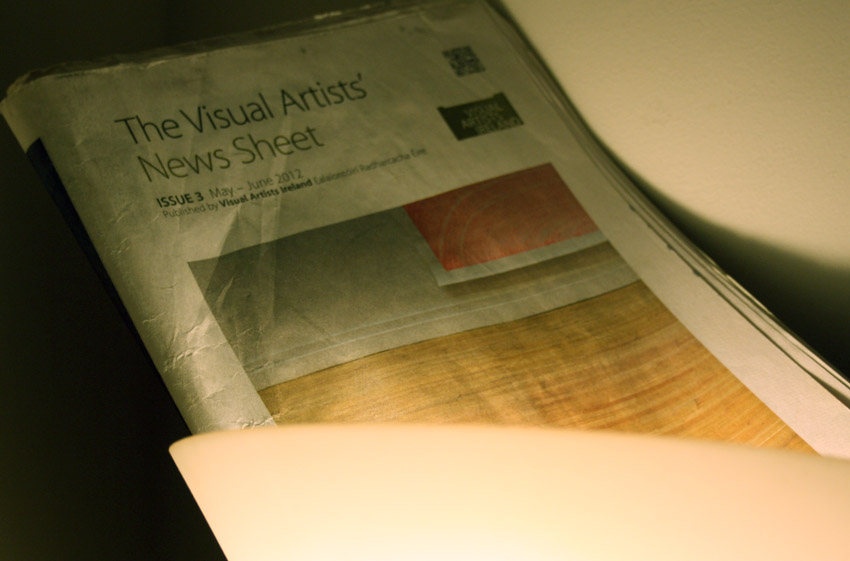 A photograph of the Visual Artists' News-Sheet