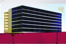 A graphic of the Anglo building in Dublin, famous for being a disasterous construction project
