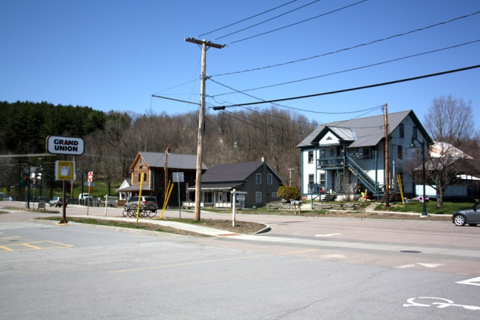 A photograph of an American town on hard times