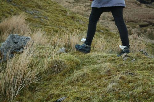 A photograph of feet walking!